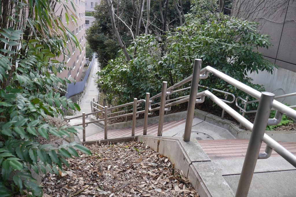 平河町から清水谷公園に下る階段