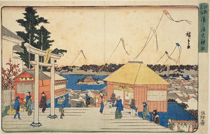 湯島天神境内の図